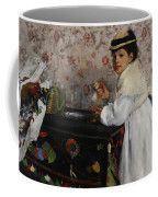 Portrait Of Mademoiselle Hortense Valpincon Coffee Mug