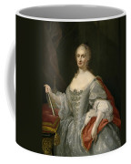 Portrait Of Maria Amalia Of Saxony As Queen Of Naples Overlooking The Neapolitan Crown Coffee Mug