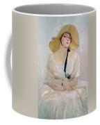 Portrait Of Raquel Meller Coffee Mug by Joaquin Sorolla y Bastida