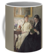 Portrait Of The Artist S Mother And Sister Coffee Mug