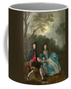Portrait Of The Artist With His Wife And Daughter Coffee Mug