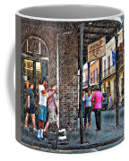 Portrait Of The Street Musician Sketch  Coffee Mug