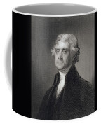 Portrait Of Thomas Jefferson Coffee Mug by Henry Bryan Hall
