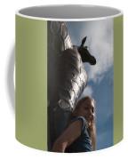 Portrait With A Giraffe Coffee Mug
