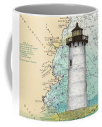Portsmouth Harbor Lighthouse Nh Nautical Chart Map Art Coffee Mug