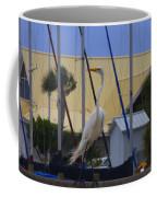 Posing Egret Coffee Mug