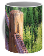 Post And Rail At Sunset Coffee Mug