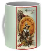 Postcard Of Pilgrim Plucking A Turkey Coffee Mug by American School