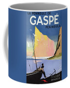 Poster Advertising The Gaspe Peninsula Quebec Canada Coffee Mug