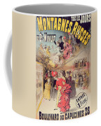 Poster Advertising The Montagnes Russes Roller Coaster Coffee Mug