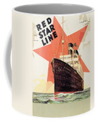 Poster Advertising The Red Star Line Coffee Mug