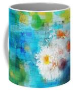 Pot Of Daisies 02 - J3327100-bl1t22a Coffee Mug