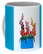 Potted Blooms - Blue Coffee Mug