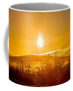 Power Lines And Trees In The Frozen Coffee Mug