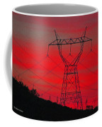 Power Lines Just After Sunset Coffee Mug