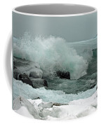 Powerful Winter Surf Coffee Mug