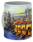 Prague Panorama Charles Bridge Coffee Mug