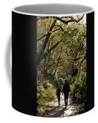 Prairie Creek Redwood State Park With Sun Breaking Through Trees Coffee Mug