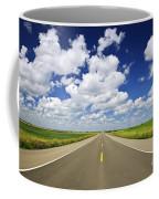 Prairie Highway Coffee Mug by Elena Elisseeva
