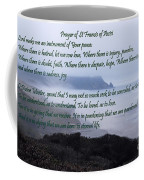 Prayer Of St Francis Of Assisi Coffee Mug by Sharon Elliott