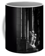 Praying Angle - Sucre Cemetery In Black And White Coffee Mug