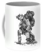 Praying  Soldier  Coffee Mug by Murphy Elliott