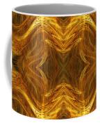 Precious Metal 3 Ocean Waves Dark Gold Coffee Mug