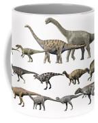 Prehistoric Era Dinosaurs Of Niger Coffee Mug by Nobumichi Tamura