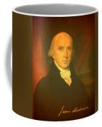 President James Madison Portrait And Signature Coffee Mug