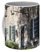 Pretty Brick Building And Flower Boxes Coffee Mug
