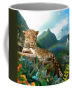 Pretty Jaguar Coffee Mug by Alixandra Mullins