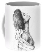 Pretty Lady Coffee Mug by Olga Shvartsur