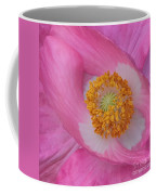 Pretty Pink Poppy Macro Square Coffee Mug