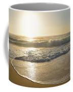 Pretty Waves At Glowing Sunrise By Kaye Menner Coffee Mug