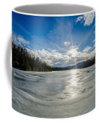 Price Lake Frozen Over During Winter Months In North Carolina Coffee Mug