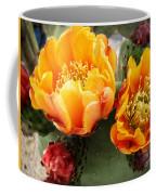 Prickly Pear Blossom Orange Coffee Mug