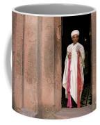 Priest At Ancient Rock Hewn Churches Of Lalibela Ethiopia Coffee Mug
