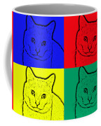 Primary And Green Cats Coffee Mug