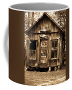 Primative Post Office Cabin In Sepia Coffee Mug