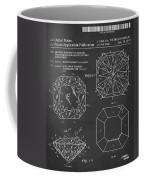 Princess Cut Diamond Patent Barcode Gray Coffee Mug