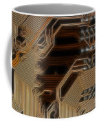 Printed Curcuit Coffee Mug by Michal Boubin
