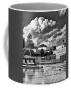 Pristine Pool Bw Marrakesh Palm Springs Coffee Mug
