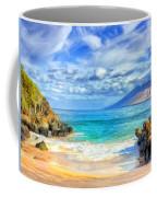 Private Beach At Wailea Maui Coffee Mug