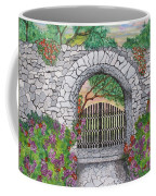Private Garden At Sunset Coffee Mug