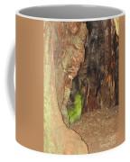 Profile Face In Tree Coffee Mug