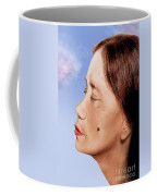 Profile Of A Filipina Beauty With A Mole On Her Cheek Altered Version Coffee Mug