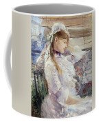 Profile Of A Seated Young Woman Coffee Mug by Berthe Morisot
