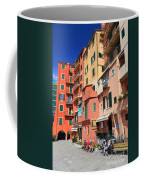promenade and homes in Camogli Coffee Mug