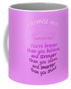 Promise Me - Winnie The Pooh - Pink Coffee Mug