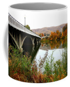 Prosser Bridge And Fall Colors On The River Coffee Mug